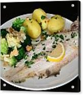 Dover Sole Fish Dinner Acrylic Print