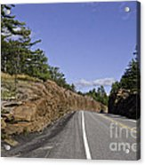 Driving Through A Rock Cut Acrylic Print