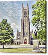 Duke Chapel In Spring Acrylic Print