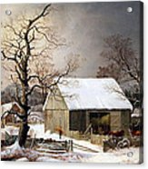 Durrie's Winter In The Country Acrylic Print