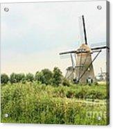 Dutch Landscape With Windmills Acrylic Print