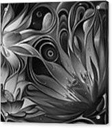 Dynamic Floral Fantasy Acrylic Print