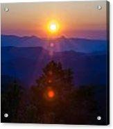 Early Morning Sunrise Over Blue Ridge Mountains Acrylic Print