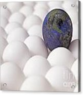 Earth Egg Pollution Acrylic Print