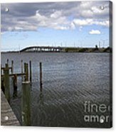 Eau Gallie Causeway Over The Indian River Lagoon At Melbourne Fl Acrylic Print