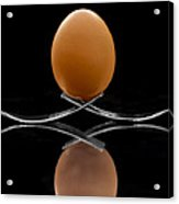 Egg On Top Of Forks Acrylic Print