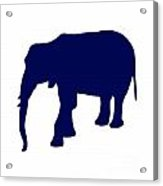 Elephant In Navy And White Acrylic Print