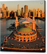 Elevated View Of The Navy Pier Acrylic Print