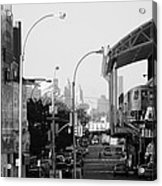 End Of The Line In Black And White Acrylic Print
