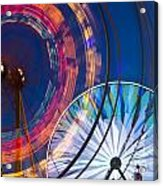 Evergreen State Fair Ferris Wheel Acrylic Print