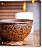 Exotic Bowl And Candles Acrylic Print