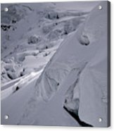 Extreme Skier Going Fast In Beautiful Acrylic Print