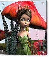 Fairy In Woodland Acrylic Print