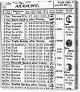 Family Almanac, 1874 Acrylic Print