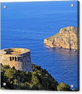 Famous Tower Of Savinar On Ibiza Island Acrylic Print