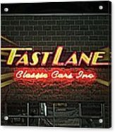 Fast Lane In Lights Acrylic Print
