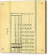Felt Adding Machine Patent Art 1887 Acrylic Print