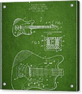 Fender Electric Guitar Patent Drawing From 1966 Acrylic Print