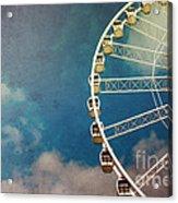 Ferris Wheel Retro Acrylic Print by Jane Rix