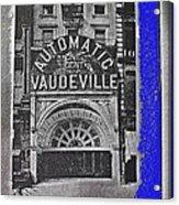 Film Homage Automatic 1 Cent Vaudeville Peep Show Arcade C.1890's New York City Collage 2013 Acrylic Print