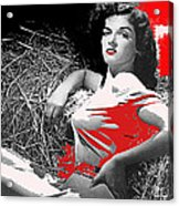 Film Homage Jane Russell The Outlaw 1943 Publicity Photo Photographer George Hurrell 2012 Acrylic Print
