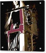 Film Noir Dance Hall Girl Looks Down On Robert Mitchum The King Of Noir Filming Old Tucson Az 1968 Acrylic Print