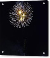 Fireworks Shell Burst Over The St Petersburg Pier Acrylic Print