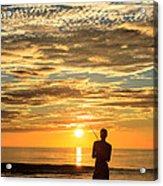 Fishing Silhouette Acrylic Print by Aoshi Vn