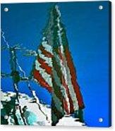 Flag Day Reflection Acrylic Print by Newel Hunter