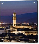 Florence At Sunset Acrylic Print