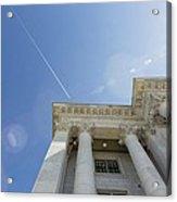 Fly Over Capital Acrylic Print
