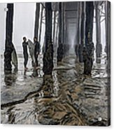 Fog At The Pier Acrylic Print