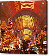 Fremont Street Experience Las Vegas Nv Acrylic Print