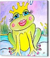 Frog Princess Acrylic Print by Debi Starr