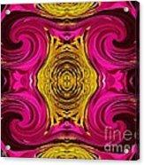 Fuchsia Sensation Abstract Acrylic Print