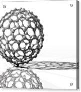 Fullerene Molecule Acrylic Print