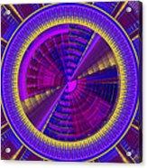 Futuristic Tech Disc Fractal Flame Acrylic Print