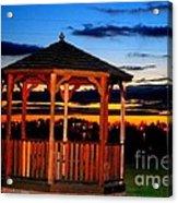 Gazebo At Sunset Acrylic Print