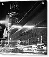 Gedachtniskirche Christmas Market On Kudamm Berlin Germany Acrylic Print by Joe Fox