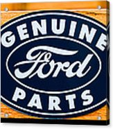 Genuine Ford Parts Sign Acrylic Print