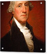 George Washington By Gilbert Stuart -- 2 Acrylic Print