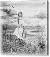 Girl And The Ocean Acrylic Print