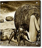 Girl With Spider Acrylic Print