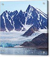 Glaciers Tumble Into The Sea In The Acrylic Print