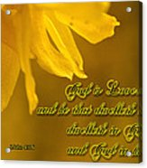God Is Love Acrylic Print by Larry Bishop