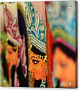 Goddess Durga Acrylic Print by Atin Saha