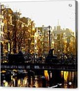 Golden Amsterdam Acrylic Print