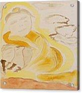 Golden Maiden Acrylic Print
