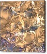 Golden Synapse Acrylic Print