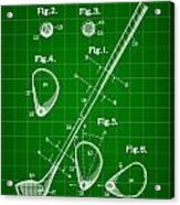Golf Club Patent 1909 - Green Acrylic Print